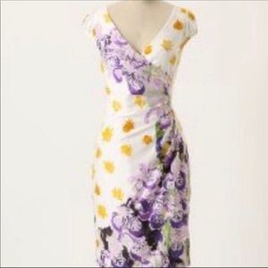 Rebekah Maysles Anthropologie Floral Body Dress